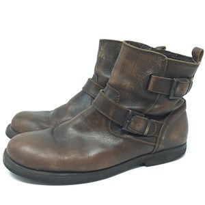 Steve Madden Lamarco 9.5 Distressed Zip Boot Ankle